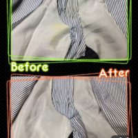 メンズ パンツ ズボン 股下 の黄ばみ by 下町、東京都江東区亀戸の会員制クリーニングベレーナ