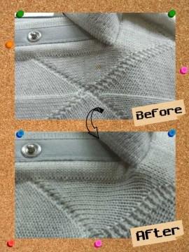 メンズ セーター 何が付いたかわからない 不明 なしみ by 下町、東京都江東区亀戸の会員制クリーニングベレーナ