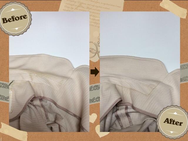 エフデ ef-de の レディース ジャケット の 襟 エリ の 黄ばみ by 下町  東京都江東区亀戸の会員制クリーニングベレーナ