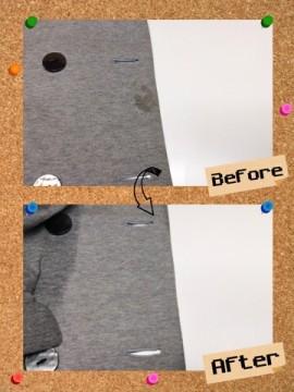 レディース ジャケット 何が付いたかわからない 不明 なしみ by 下町、東京都江東区亀戸の会員制クリーニングベレーナ