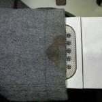 レディース コート 食べこぼし のしみ