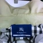 バーバリー Burberry コート 襟 エリ の 黄ばみ