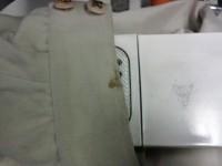 コート 袖口 食べこぼしのしみ by 下町、江東区亀戸 会員制クリーニング ベレーナ