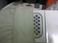 コート 袖口 食べこぼしのしみ by 下町、東京都江東区亀戸の会員制クリーニング ベレーナ