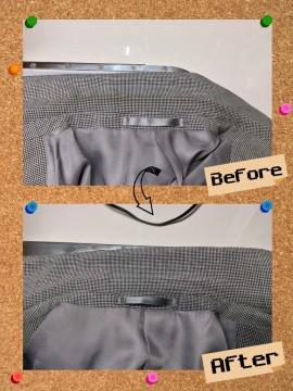 メンズ ジャケット 襟 エリ の 黄ばみ by 下町、東京都江東区亀戸の会員制クリーニングベレーナ