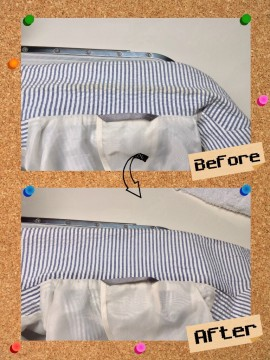 メンズ ジャケット の 襟 エリ の 黄ばみ by 下町、東京都江東区亀戸の会員制クリーニングベレーナ