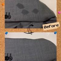 メンズ ジャケット 食べこぼし のしみ by 下町、東京都江東区亀戸の会員制クリーニングベレーナ