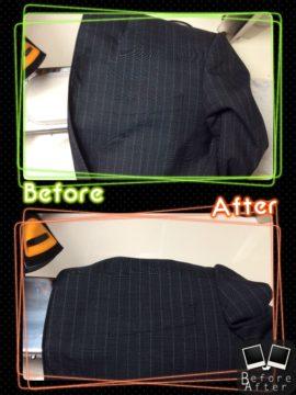 メンズ ジャケット インク のしみ by 下町、東京都江東区亀戸の会員制クリーニングベレーナ