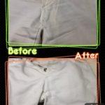 メンズ パンツ ズボン 股下 の 黄ばみ 変色 と ひどい汚れ