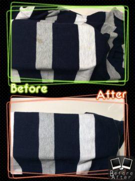 レディース セーター 食べこぼし のしみ by 下町、東京都江東区亀戸の会員制クリーニングベレーナ