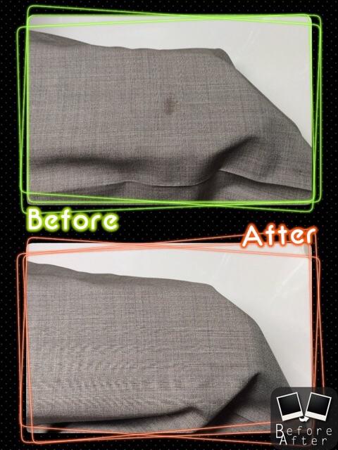 メンズ パンツ ズボン についた 不明 なしみ by 下町、東京都江東区亀戸の会員制クリーニングベレーナ