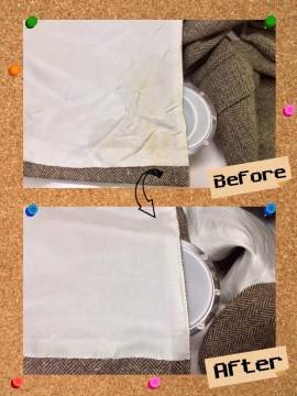 メンズ ジャケット についた 不明 なしみ 染み抜き by 下町、東京都江東区亀戸の会員制クリーニングベレーナ