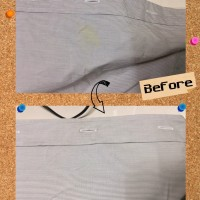 ワイシャツ についた カレー 食べこぼし のしみ 染み抜き by 下町、東京都江東区亀戸の会員制クリーニングベレーナ