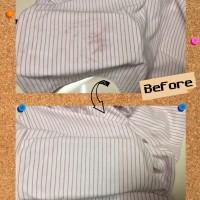 メンズ ポロ シャツ 革手袋 からの 色移り 染み抜き by 下町、東京都江東区亀戸の会員制クリーニングベレーナ