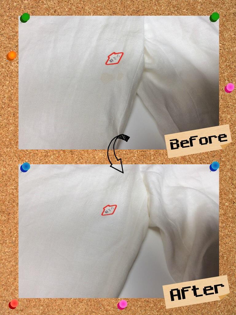 レディース ショート パンツ 食べこぼし の 古い しみ by 下町、東京都江東区亀戸の会員制クリーニングベレーナ